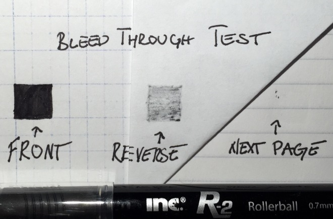 Inc R-2 bleed through test
