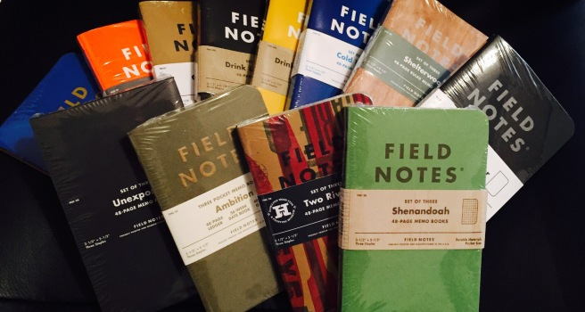 Various Sealed Field Notes
