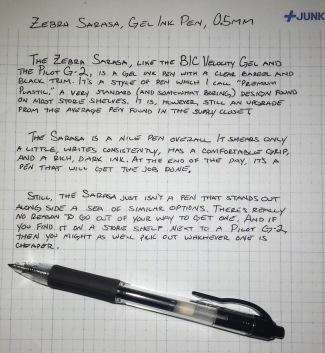 Zebra Sarasa Review