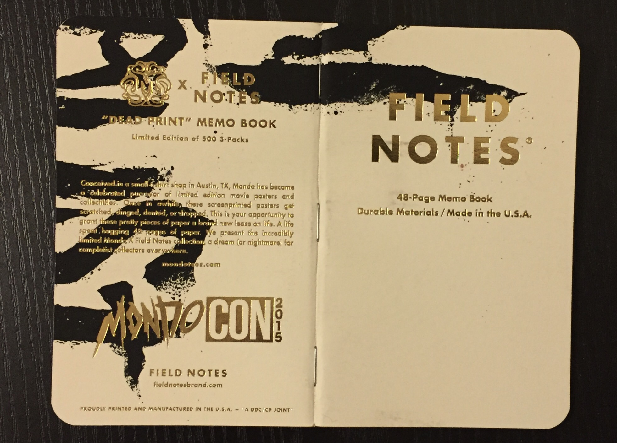 Poster design notes - Notes On Dead Print Field Notes