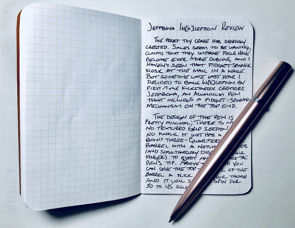Review Jeffbona Inkception Gel Ink 04mm Pens And Junk